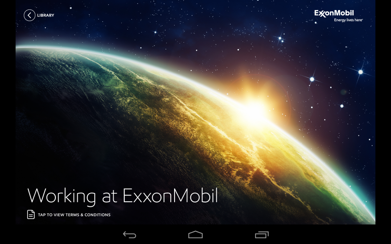 Working at ExxonMobil- screenshot