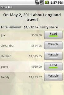 Share the bill- screenshot thumbnail