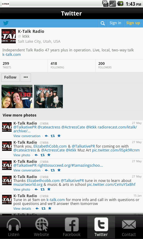 K-Talk Radio- screenshot