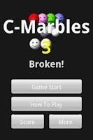 Screenshot of C-Marbles 3 [broken]