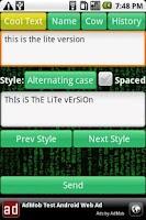 Screenshot of Cool Texter & Fonts FREE
