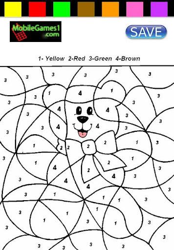 【免費休閒App】Cute Bear Coloring By Numbers-APP點子