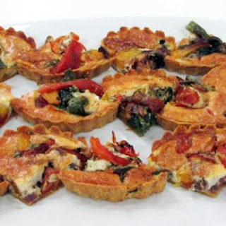 Poblano, Garlic and Roasted Pepper Tartlets
