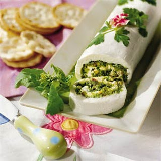 Basil-Cheese Roulade.