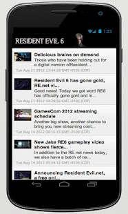 Resident Evil 6+ App - screenshot thumbnail