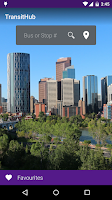 Screenshot of TransitHub Calgary