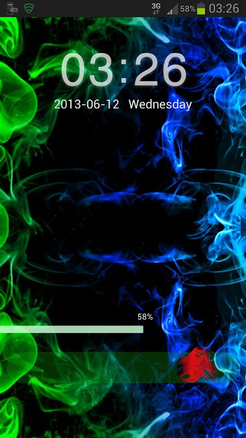 Go Locker Theme green smoke- screenshot