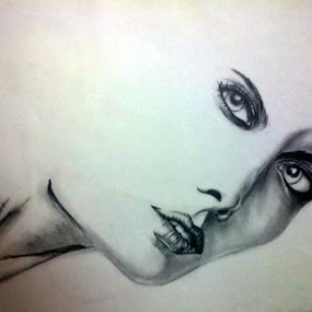 Feel by Samhita Das - Drawing All Drawing ( pencil, expression, feel, face, girl, shadow, lips, beauty, light, eyes )