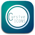 CURSIVE HD ICONS APEX/NOVA/ADW icon