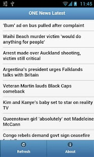 TVNZ One News RSS - screenshot thumbnail