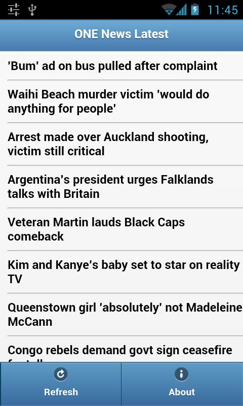 TVNZ One News RSS - screenshot
