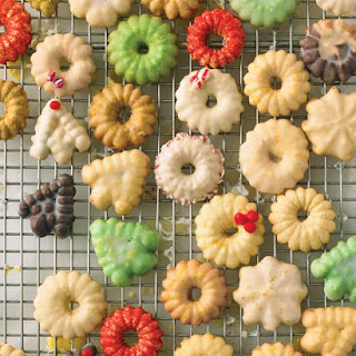 Glazed Spritz Cookies