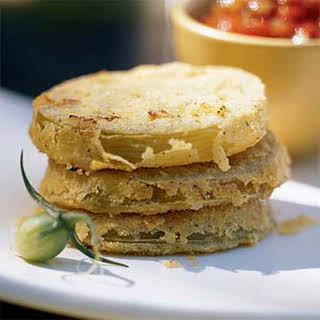 Unfried Green Tomatoes with Fresh Tomato Gravy.