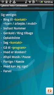 Cyberon Voice Commander(DK) - screenshot thumbnail