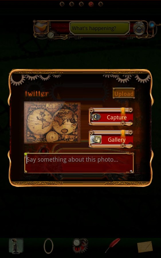 Steampunk Twitter GO Widget - screenshot