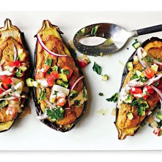 Falafel-Stuffed Eggplant