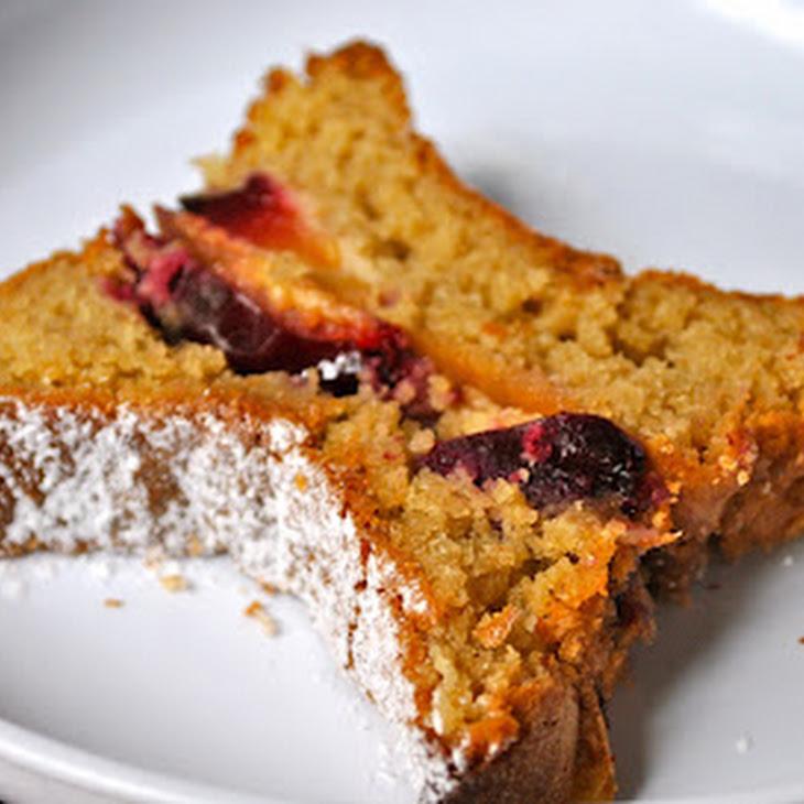 Cherry Sponge Cake with Cinnamon