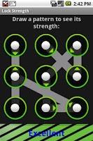 Screenshot of Lock Pattern Strength