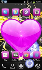 NEON HEART ♥ GO LAUNCHER Android Personalization