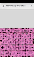 Screenshot of Pink Cheetah GO Keyboard Theme