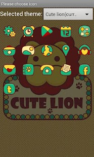 Cute Lion GO LauncherEX Theme - screenshot thumbnail