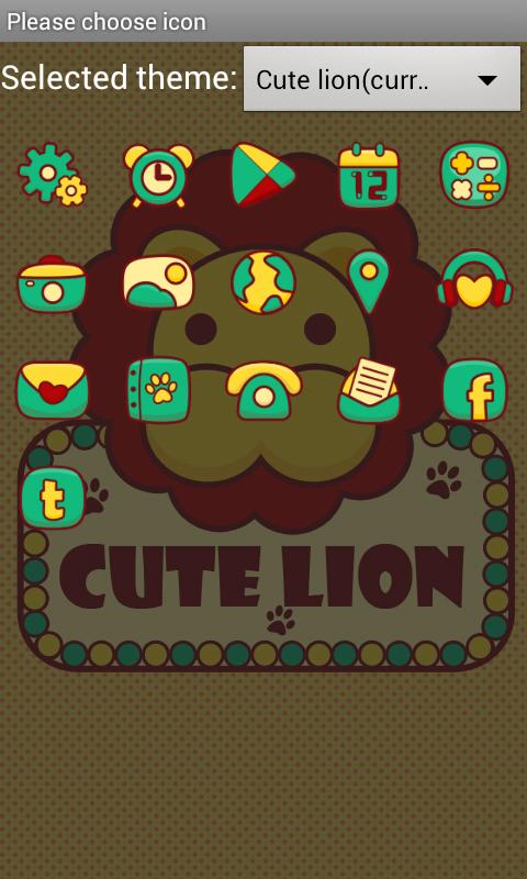 Cute Lion GO LauncherEX Theme - screenshot