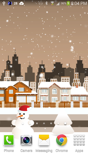Cartoon City In Winter Live WP