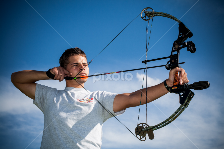 The Archer 2 by Werner Booysen - Sports & Fitness Other Sports ( archer, arrow, archery, bow, man, werner booysen,  )