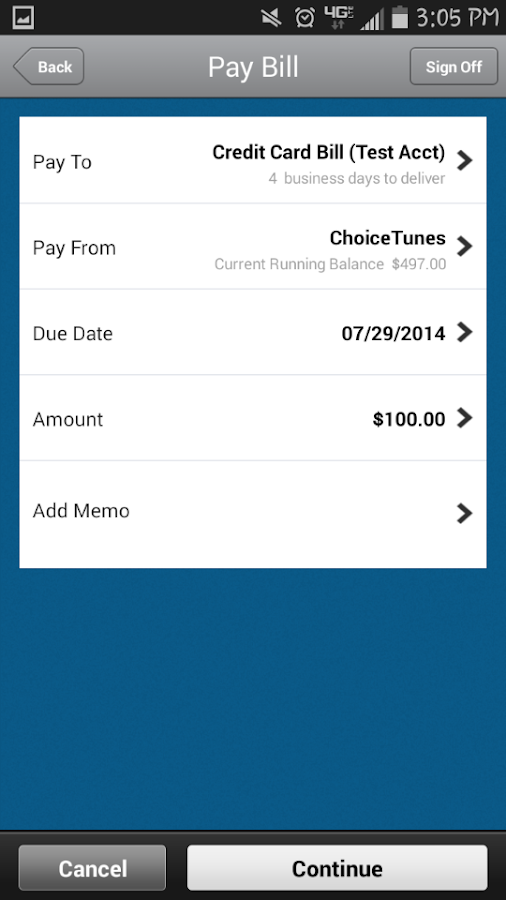 Choice Financial Mobile- screenshot