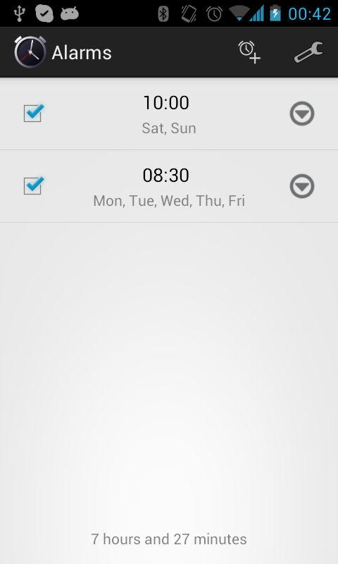 Simple Alarm Clock Free - screenshot
