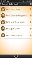Screenshot of Brihaspati Graha Mantra