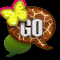 GO SMS/NeonGiraffeButterfly icon