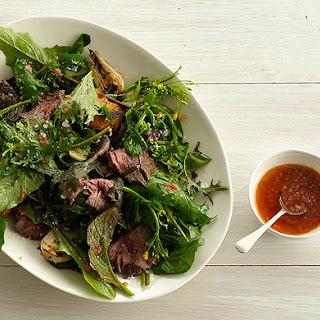 Grilled Steak Salad with Tomato Vinaigrette Recipe