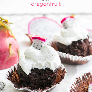 Chocolate Cupcakes with Dragon Fruit Buttercream.