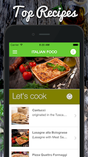 Free Download Italian Food Kitchen Recipes APK for Android