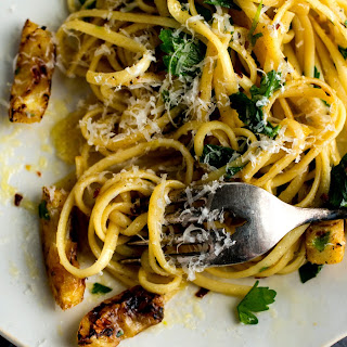 Pasta With Fried Lemons and Chile Flakes