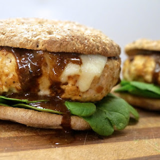 Chicken Burgers with Apple, Balsamic, and Blue Cheese