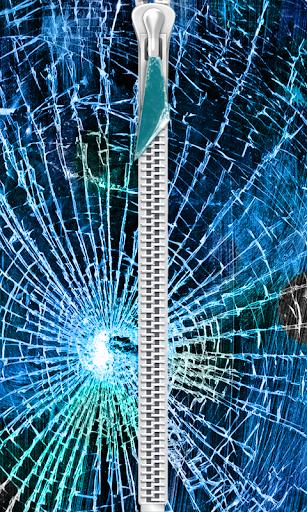 Cracked Zipper Lock Screen