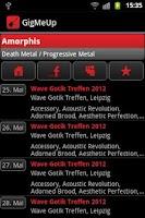 Screenshot of GigMeUp by Metalgigs