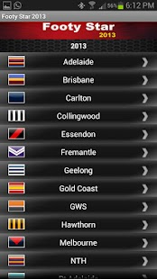 AFL Footy Star 2015 - screenshot thumbnail