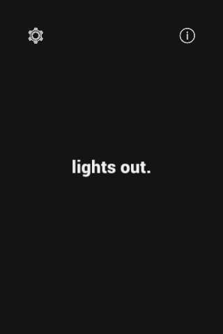 lights out.