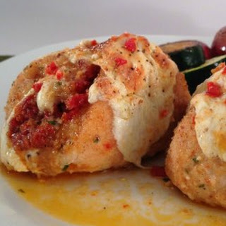 Baked Chicken Stuffed with Sun Dried Tomato and Mozzarella