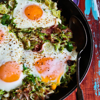 Brussels Sprouts, Potato and Bacon Hash.