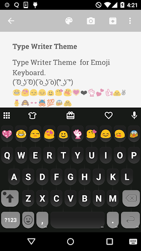 Type Writer Emoji Keyboard