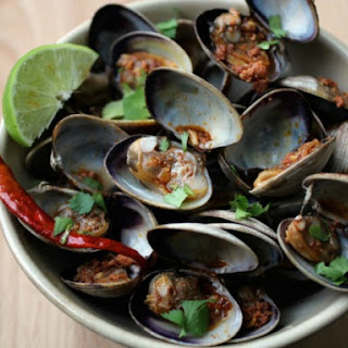 Clams with Tequila and Chorizo.