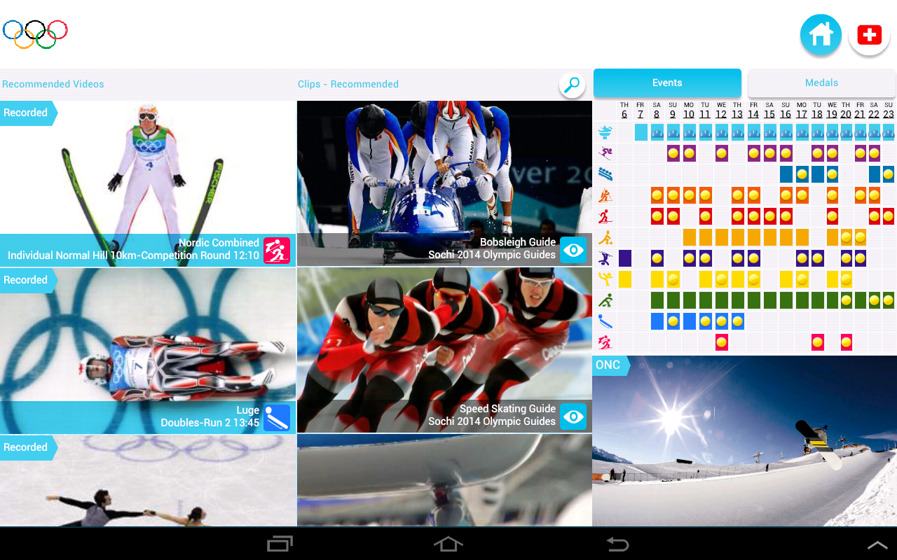 Olympic TV - screenshot