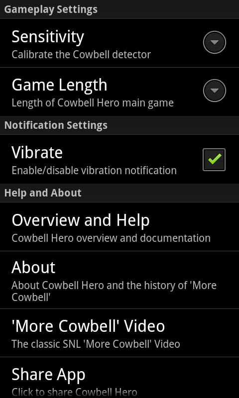 Cowbell Hero- screenshot