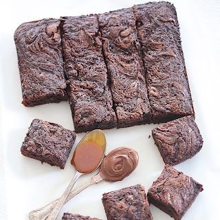 My Perfect Fudgy Chocolate & Caramel Brownies