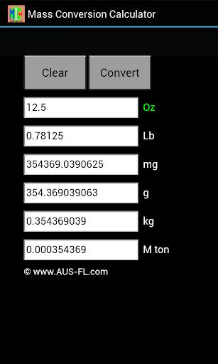 Mass Conversion Calculator