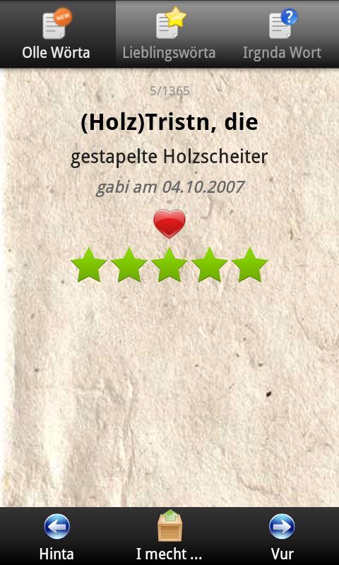 Kärnten Wörterbuch- screenshot